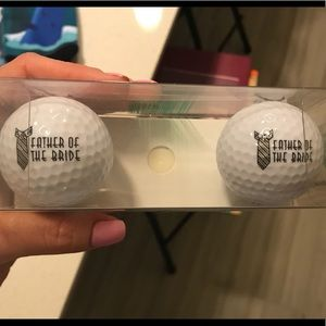 Two Father of the Bride Golf Balls - Wedding Gift